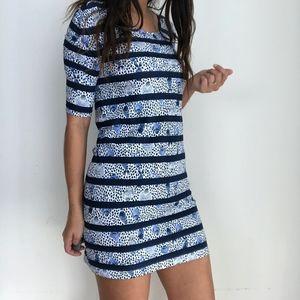 NWT Lilly Pulitzer Lajolla Blue Stripe Print Dress